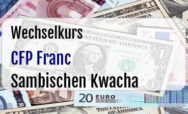 CFP Franc in Sambischen Kwacha