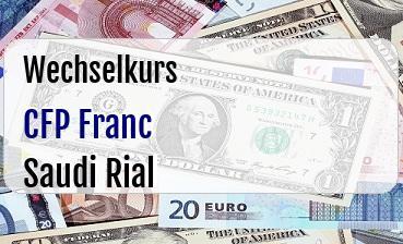 CFP Franc in Saudi Rial