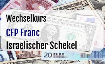 CFP Franc in Israelischer Schekel