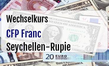 CFP Franc in Seychellen-Rupie