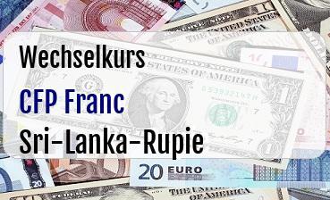 CFP Franc in Sri-Lanka-Rupie