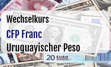 CFP Franc in Uruguayischer Peso