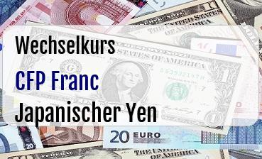 CFP Franc in Japanischer Yen