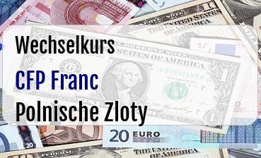 CFP Franc in Polnische Zloty