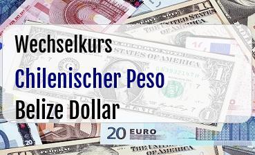 Chilenischer Peso in Belize Dollar