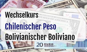Chilenischer Peso in Bolivianischer Boliviano
