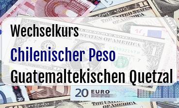 Chilenischer Peso in Guatemaltekischen Quetzal