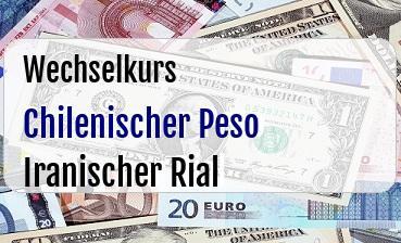 Chilenischer Peso in Iranischer Rial