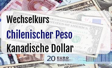 Chilenischer Peso in Kanadische Dollar