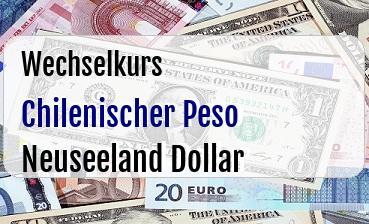 Chilenischer Peso in Neuseeland Dollar