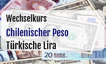 Chilenischer Peso in Türkische Lira