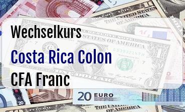 Costa Rica Colon in CFA Franc