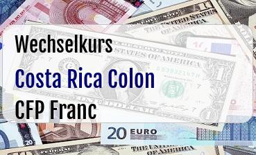 Costa Rica Colon in CFP Franc