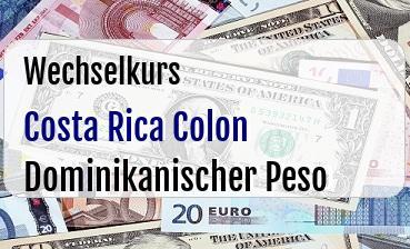 Costa Rica Colon in Dominikanischer Peso