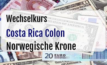 Costa Rica Colon in Norwegische Krone