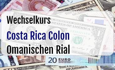 Costa Rica Colon in Omanischen Rial