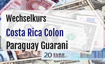 Costa Rica Colon in Paraguay Guarani