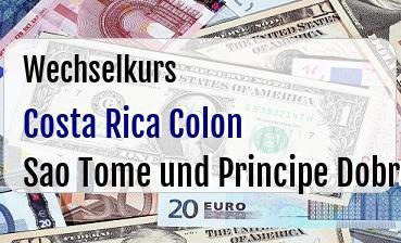 Costa Rica Colon in Sao Tome und Principe Dobra