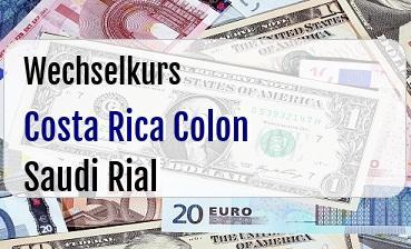 Costa Rica Colon in Saudi Rial
