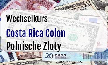 Costa Rica Colon in Polnische Zloty