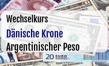 Dänische Krone in Argentinischer Peso