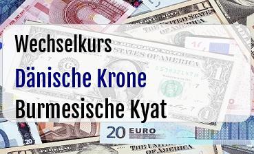 Dänische Krone in Burmesische Kyat