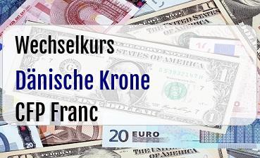 Dänische Krone in CFP Franc