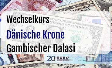 Dänische Krone in Gambischer Dalasi