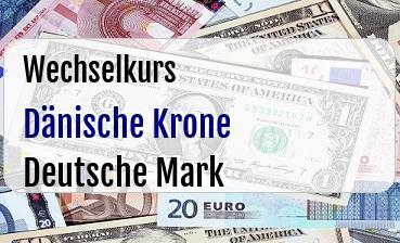 Dänische Krone in Deutsche Mark