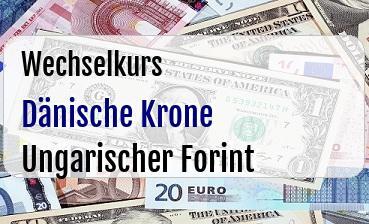 Dänische Krone in Ungarischer Forint