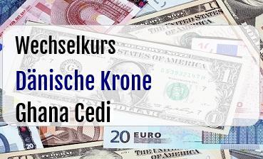 Dänische Krone in Ghana Cedi