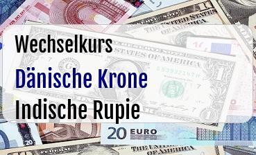 Dänische Krone in Indische Rupie