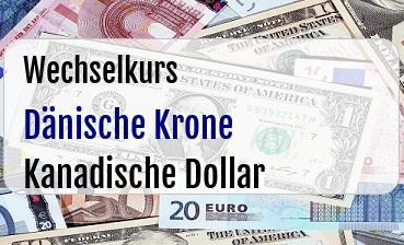 Dänische Krone in Kanadische Dollar