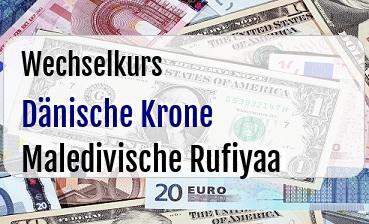 Dänische Krone in Maledivische Rufiyaa