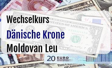 Dänische Krone in Moldovan Leu