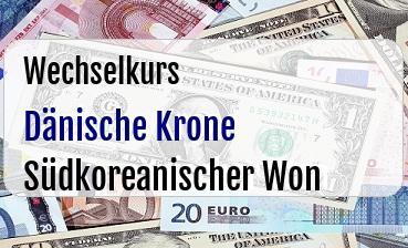 Dänische Krone in Südkoreanischer Won