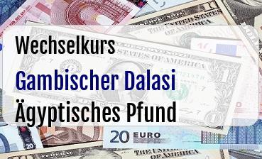 Gambischer Dalasi in Ägyptisches Pfund