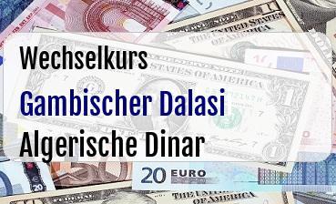 Gambischer Dalasi in Algerische Dinar