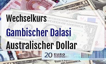 Gambischer Dalasi in Australischer Dollar