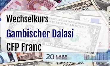 Gambischer Dalasi in CFP Franc