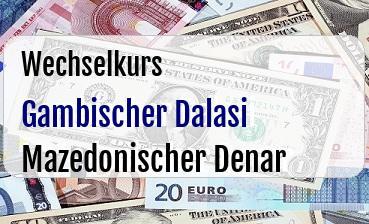 Gambischer Dalasi in Mazedonischer Denar