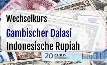 Gambischer Dalasi in Indonesische Rupiah