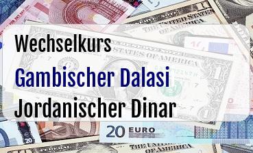 Gambischer Dalasi in Jordanischer Dinar