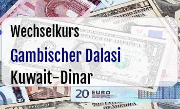 Gambischer Dalasi in Kuwait-Dinar