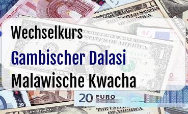 Gambischer Dalasi in Malawische Kwacha