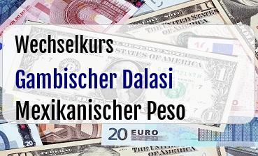 Gambischer Dalasi in Mexikanischer Peso
