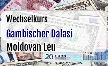 Gambischer Dalasi in Moldovan Leu