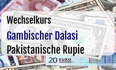 Gambischer Dalasi in Pakistanische Rupie
