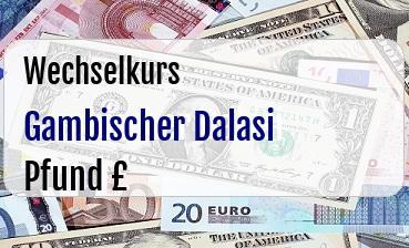 Gambischer Dalasi in Britische Pfund
