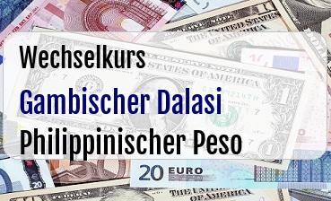 Gambischer Dalasi in Philippinischer Peso